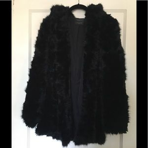 Zara Faux Fur Coat with Hood (M)